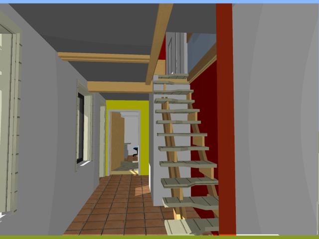 Vue 3D escalier Bucamps
