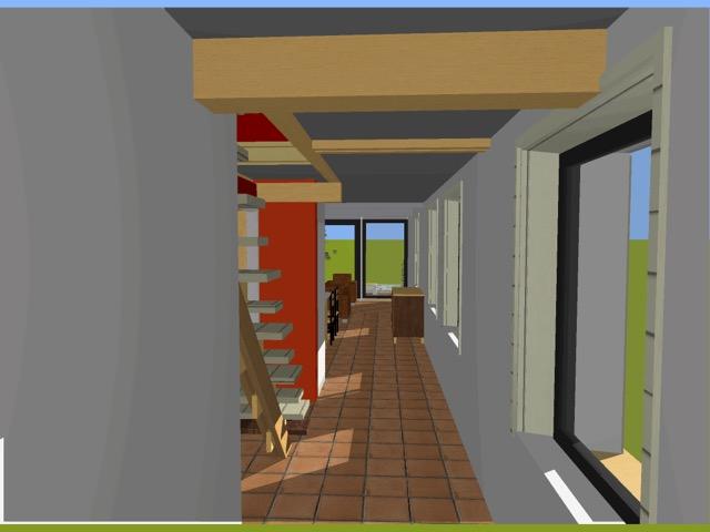 Vue 3D intérieur enfilade Bucamps